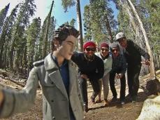 Nosso amigo Edward Cullen na floresta das sequóias gigantes =)