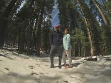 Neve no alto do Yosemite Park