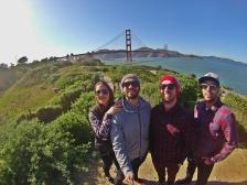 Parada para ver a Golden Gate