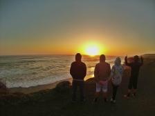 Pôr do sol próximo a Piedras Blancas